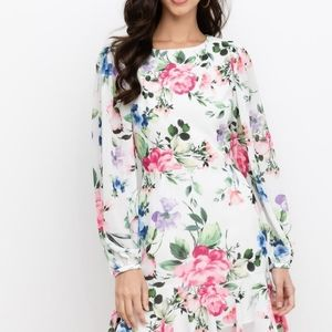 Yumi Kim be my baby floral mini dress long sleeve